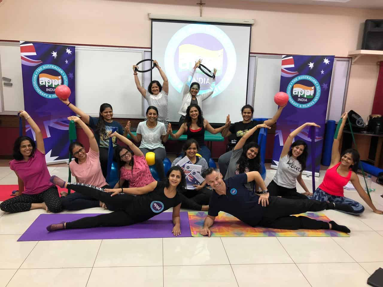 June, 2019:  First time in India by Moushu's Pilates Pune APPI (UK) Matwork Course for Rehab Professionals in Mumbai